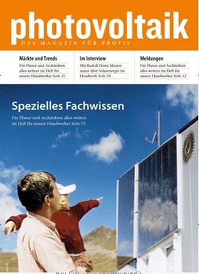 Photovoltaik fachzeitschrift